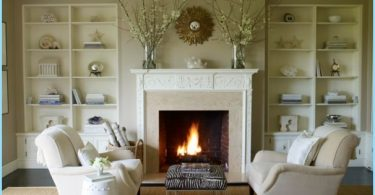 Making a fireplace made of plasterboard