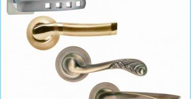 Install the handles on interior doors