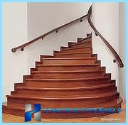 Finishing concrete stairs wood, laminate