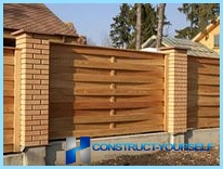 Building a wooden fence picket