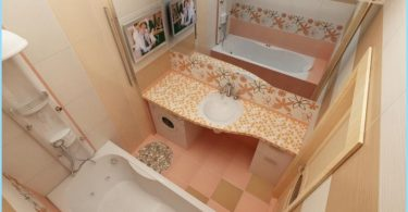 Modern repair a small bathroom in the Khrushchev