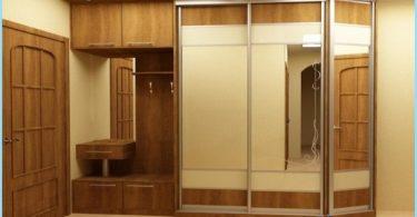 Design wardrobe in the hallway
