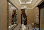 The mirror in the interior hallway