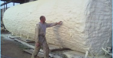 Thermal insulation foam spraying