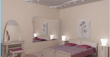 Design ceiling plasterboard bedroom with photos