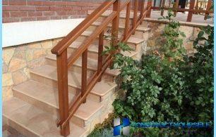 Tiling steps, granite, stone.
