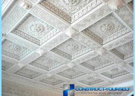 Coffered ceilings in the classic style