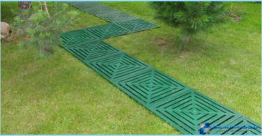 Garden paths plastic